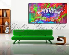 COLORFUL Abstract CanvasPRINTColorful by JuliaFineArtGallery