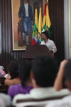 Factor 3: Profesores. Profesor Raúl Puello en conversatorio con estudiantes – 2012 –Aula Máxima de Derecho. #Unicartagena #ComunicaciónSocial