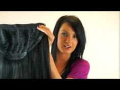 How to apply and clip in the www.superstrands.com one piece hair extensions / half wigs