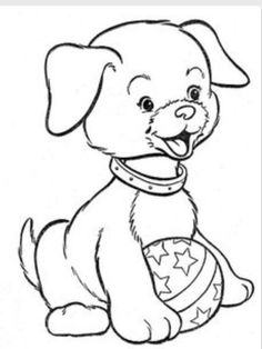 Hi-Flyer Color pg 44 Puppy Coloring Pages, Coloring Book Pages, Coloring Pages For Kids, Coloring Sheets, Applique Patterns, Colorful Pictures, Cute Drawings, Sketches, Quilts