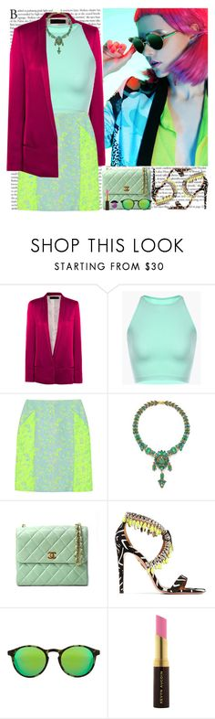 """""""Neon Neon"""" by helena99 ❤ liked on Polyvore featuring Haider Ackermann, Richard Nicoll, AERIN, Chanel, Aquazzura, Kyme, Kevyn Aucoin, Elizabeth Arden and neon"""