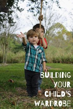 Blog post about building your child's wardrobe on a budget. Baby and toddler fashion