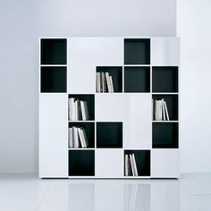 system-bookcase: flat.c - collection: b&b italia - design: antonio, Möbel