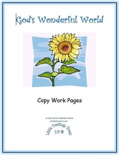 Free God's Wonderful World: Copy Work Pages (40 Pages!)