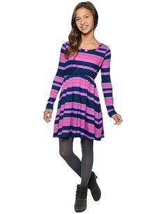 Splendid Official Store, Tribeca Stripe Dress, purple orchid, Girl : Dresses : Short, SJAU910927