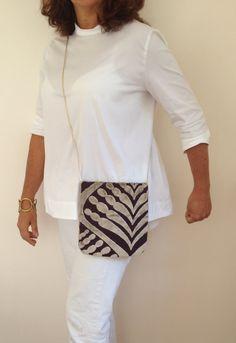 Fabric Clutch bags / plum Clutch Purse / Crossbody by vquadroitaly