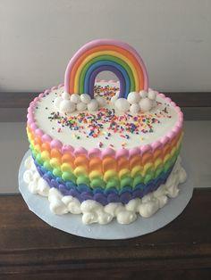 Rainbow cake - Geburtstagskuchen - rainbow Stills Rainbow Birthday Party, Birthday Cake, 4th Birthday, Chocolate Strawberry Cake, Salty Cake, Savoury Cake, Pretty Cakes, Chocolate Recipes, Cake Designs