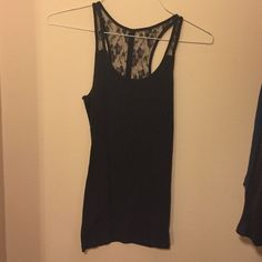 American eagle tank Racer back tank with lace. Great condition! American Eagle Outfitters Tops Tank Tops