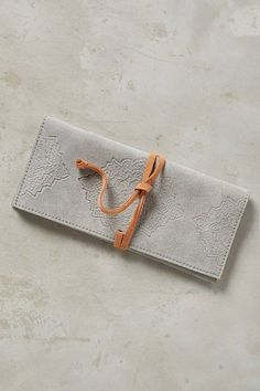 Gifts under $25 - Embossed Suede Pencil Pouch #anthrofave #holiday