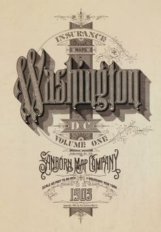 cool old vintage style hand lettering