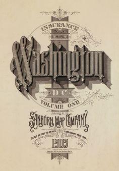 Washington Vintage Maps (1880 - 1920) #vintage #typography #lettering