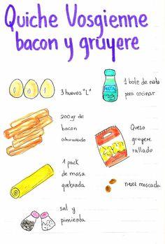 Gastro Andalusi: Quiche Vosgienne de Mayte (Bacon y queso gruyere) Quiche, Tapas, Queso, Bacon, Recipes, Food, Kitchen, Gastronomia, Recipe Books