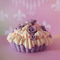 romantic cupcake lavender soap