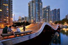 Toronto's Simcoe WaveDeck designed by West 8, one of AD's 2012 Innovators.    http://www.architecturaldigest.com/