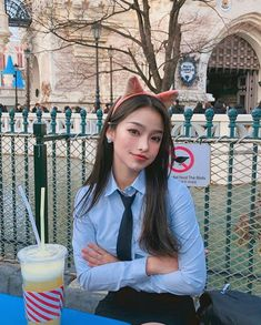 Image may contain: 1 person, standing, drink and outdoor Pretty Korean Girls, Human Bean, Ulzzang Korean Girl, Uzzlang Girl, Tumblr Photography, Ulzzang Fashion, Aesthetic Girl, Beautiful Women, Poses