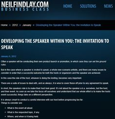 Developing The Speaker Within You: The Invitation To Speak. Discover the critical questions to ask here...