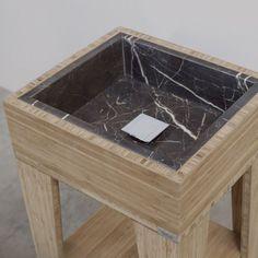 Umi S Box | Breccie #bamboo #bamboe #badkamer meubel #natuursteen #lavabo