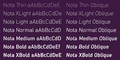 Nota - Webfont & Desktop font « MyFonts