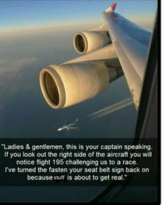 I'm so thankful that pilots wouldn't actually do this