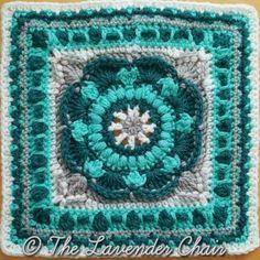 4th  Sea Flower Mandala Square - Mandala Blanket CAL 2016 - Free Crochet Pattern - The Lavender Chair