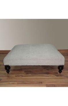 DIY an ottoman like this for the living room.