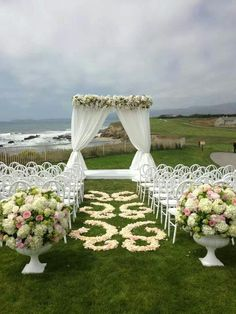 View with these beautiful chairs and floral, yes please