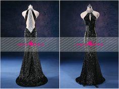 E11 Sexy Black Sequined Evening dress 2014 Rhinestone Beaded Mermaid Prom  Dress wedding party dress Engagement 0a2ab3bf6b3c