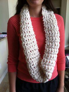 Handmade crochet scarf on Etsy,