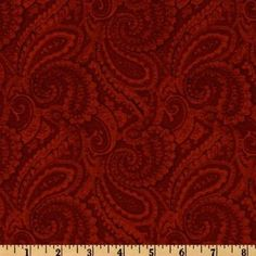 108'' Complementary Quilt Backing Paisley Crimson Fabric. $14.98/yd