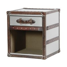 Vintage Leather Trunk Bedside