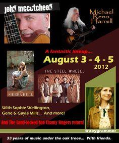 Oak Grove Folk Music Festival  August 3-4-5, 2012  Staunton, VA