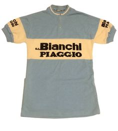 54e58c9a0 70 s vintage Deadstock Bianchi Piaggio cycling jersey made in Belgium