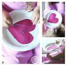 paper plate frame!! sewing for little girls