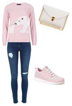 """Pink"" by alva-hillborg ❤ liked on Polyvore featuring Lacoste, M&S Collection, women's clothing, women, female, woman, misses and juniors"