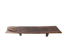 The Senufo have amongst the most beautiful but simplest beds. They consist of a completely flat and minimally adorned surface, heavy tapering legs and a sloping headrest – sometimes conceived in the form of a turtle.  While some are quite small, most are over 2m long, 1m wide and 1m high.