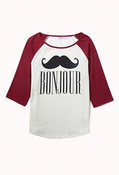 Bonjour Baseball Tee (Kids)   FOREVER21 girls - 2075348461