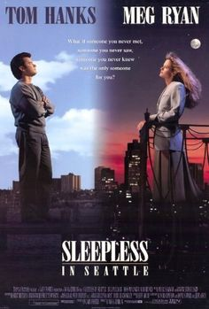 Sleepless in Seattle June 1993 Running time 106 minutes American romantic comedy film directed and co-written by Nora Ephron. Based on a story by Jeff Arch, it stars Tom Hanks as Sam Baldwin and Meg Ryan as Annie Reed. Meg Ryan, See Movie, Film Movie, Comedy Film, Movie Sequels, Movie Titles, Old Movies, Great Movies, Sleepless In Seattle