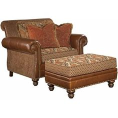Cool Pinecrest Chair And A Half And Oversized Ottoman Combination By  Kincaid Furniture Riverview Galleries Chair U Ottoman Furniture Store Nc By  Riverview ...