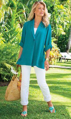 Great elegant look! Create similar at http://mandysheaven.co.uk/ - Women's Fashion Boutique UK - Fashion Over 40    I love the style & color of the jacket!