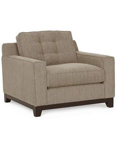 Clarke Fabric Living Room Chair - Chairs & Recliners - Furniture - Macy's