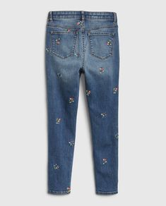 Jeans, Products, Fashion, Toddler Jeans, Embroidered Flowers, Moda, La Mode, Fasion, Gin