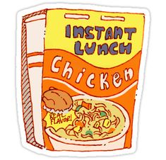 """Chicken Ramen"" Stickers by kookeybird Homemade Stickers, Food Stickers, Anime Stickers, Tumblr Stickers, Phone Stickers, Diy Stickers, Printable Stickers, Sticker Ideas, Journal Stickers"