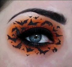 """hanaharoo: """" inlovewiththeworldd: """" losethehours: """" doitsuyourlordandsavior: """" sixpenceee: """" A compilation of halloween themed eye make-up. I'll be posting halloween themed content all month! """" How does one do this """" Stunning work! """" Makeup is fine. Diy Halloween Eye Makeup, Halloween Looks, Halloween Eyeshadow, Halloween Bats, Halloween Costumes, Happy Halloween, Halloween Ideas, Halloween Halloween, Vintage Halloween"""