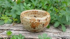 Vintage stonewear bowl stone offering bowl by TheWitchChandlery