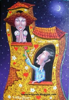 "Artist Zurab Martiashvili: 2011, ""Lovers neighbors"""