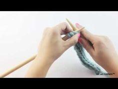 Cómo tejer un cordón a dos agujas Soy Woolly Clase 41 - YouTube