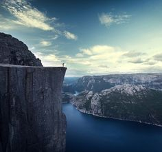 Pulpit Rock. Must be an insane view.