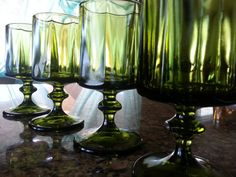 Vintage Indiana Glassware Heavy green pressed glass by likesteel, $22.00