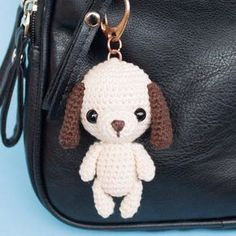 Dog bag charm amigurumi pattern