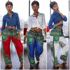 Love these pants made of dashiki print! Added by TheChunkyDiva
